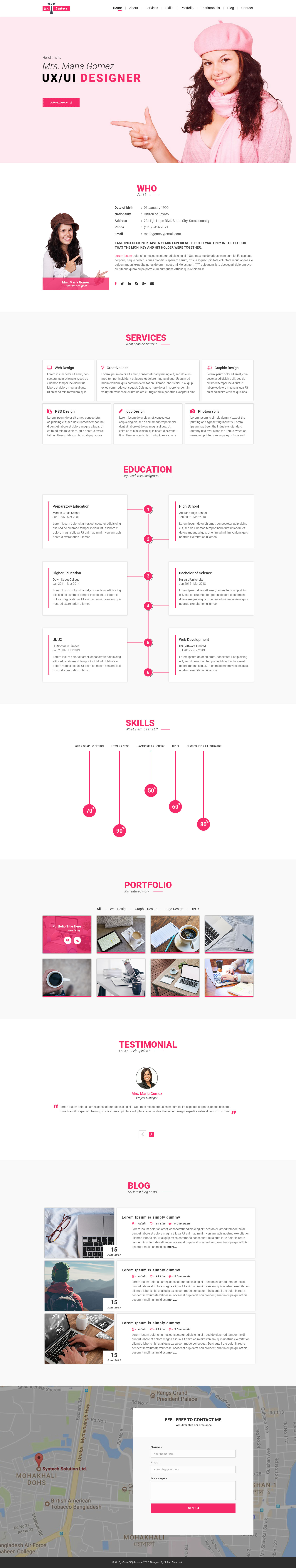 mr syntech  resume psd template by syntechbd