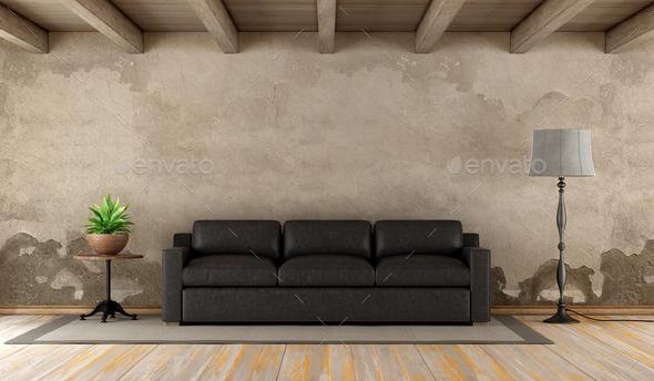 Retro living room - Stock Photo - Images