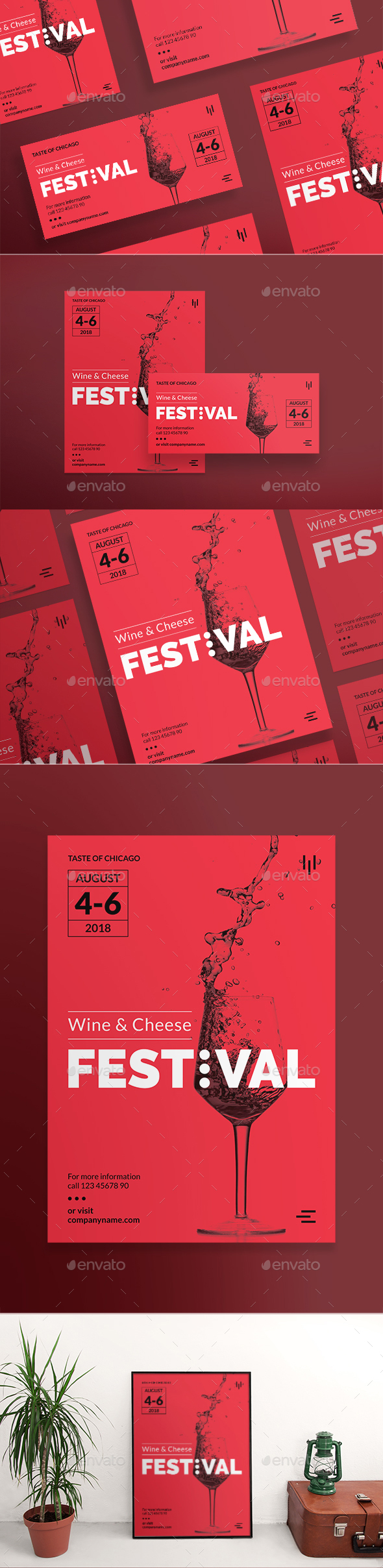 Wine Festival Flyers - Clubs & Parties Events