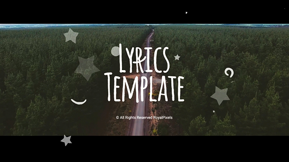 Lyrics template special events after effects templates for After effects lyric video template