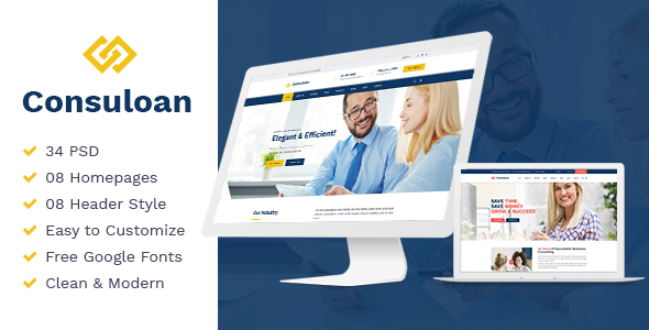 Consuloan | Multipurpose Consulting Psd Templates - Corporate PSD Templates