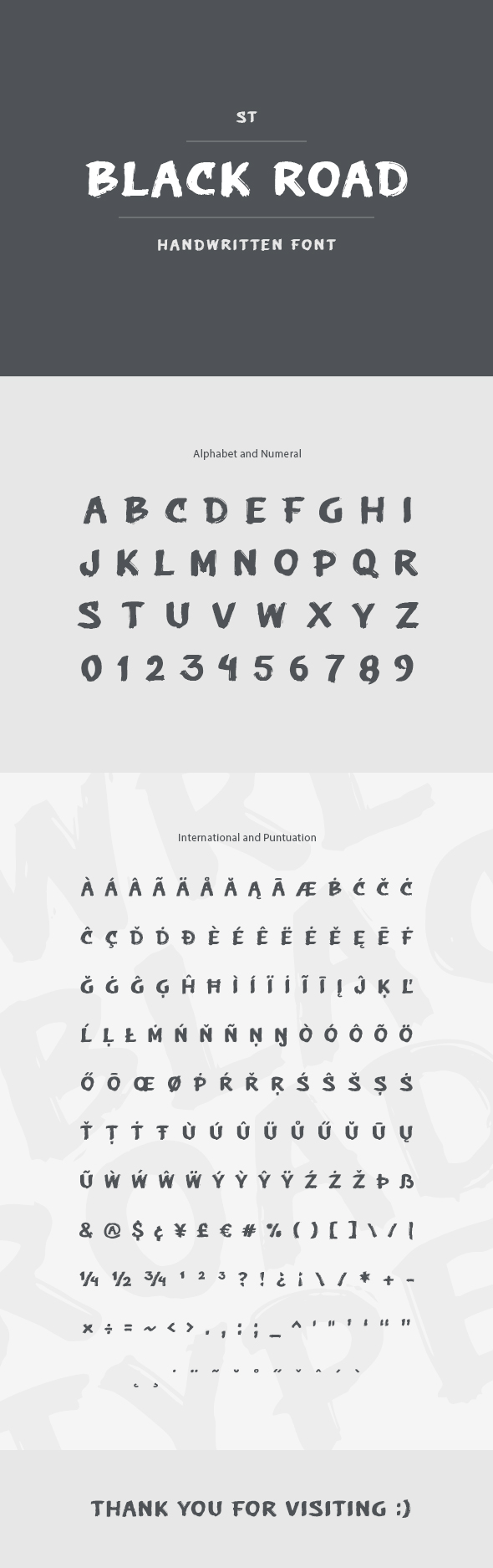 Black Road Font - Hand-writing Script