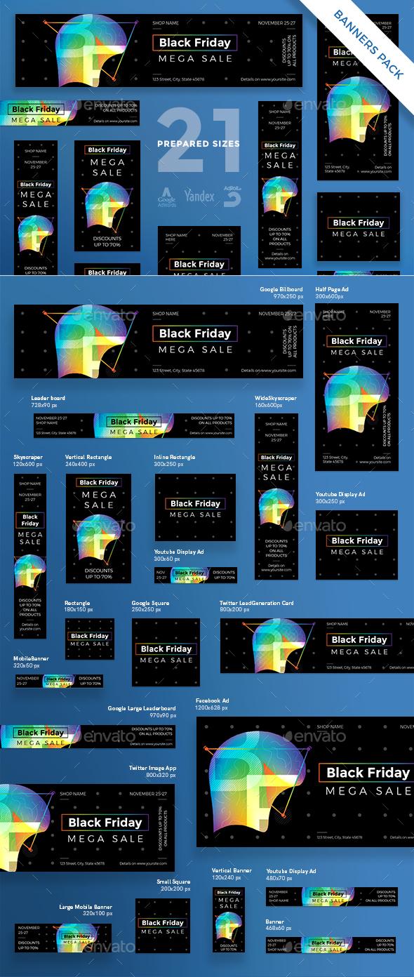 GraphicRiver Black Friday Banner Pack 20916828