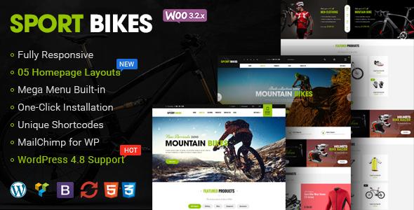 Sportbikes - Sports and Fitness Store WooCommerce WordPress Theme - WooCommerce eCommerce