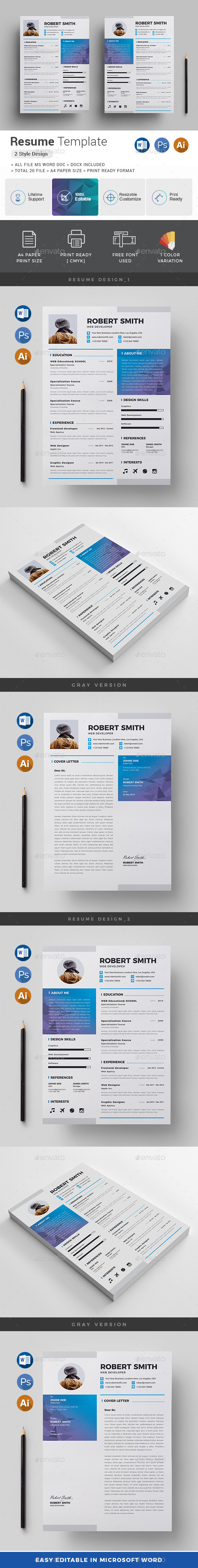 GraphicRiver Resume 20916852