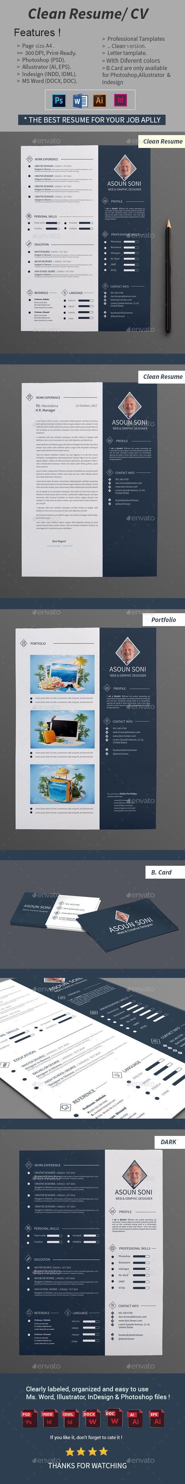 GraphicRiver Clean Resume CV 20916865