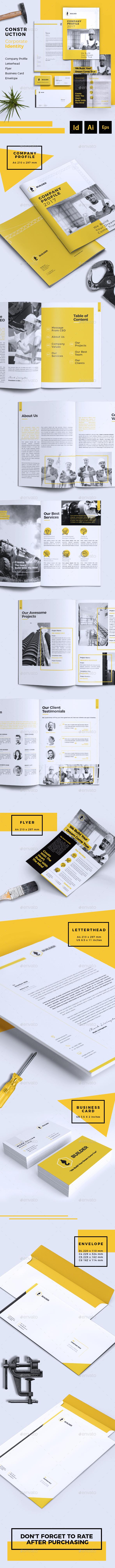 GraphicRiver Builder Construction Corporate Branding Identity 20916904