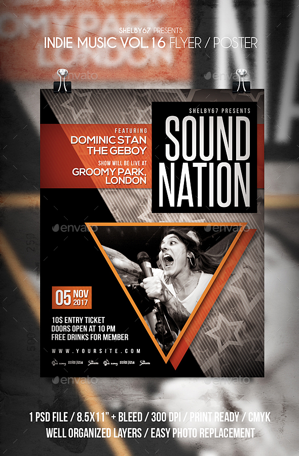 GraphicRiver Indie Music Flyer Poster Vol 16 20916923
