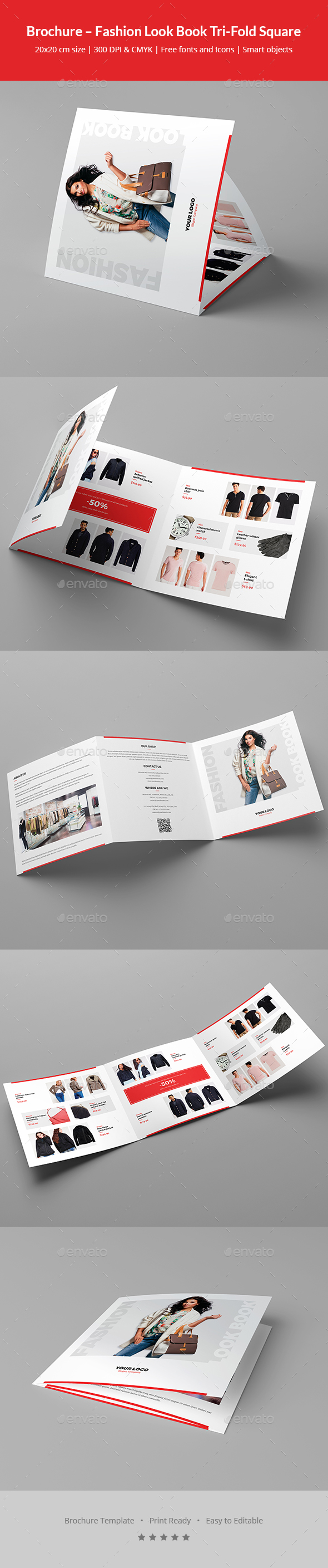 GraphicRiver Brochure Fashion Look Book Tri-Fold Square 20916941