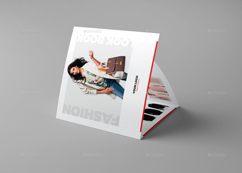 brochure fashion look book tri fold square