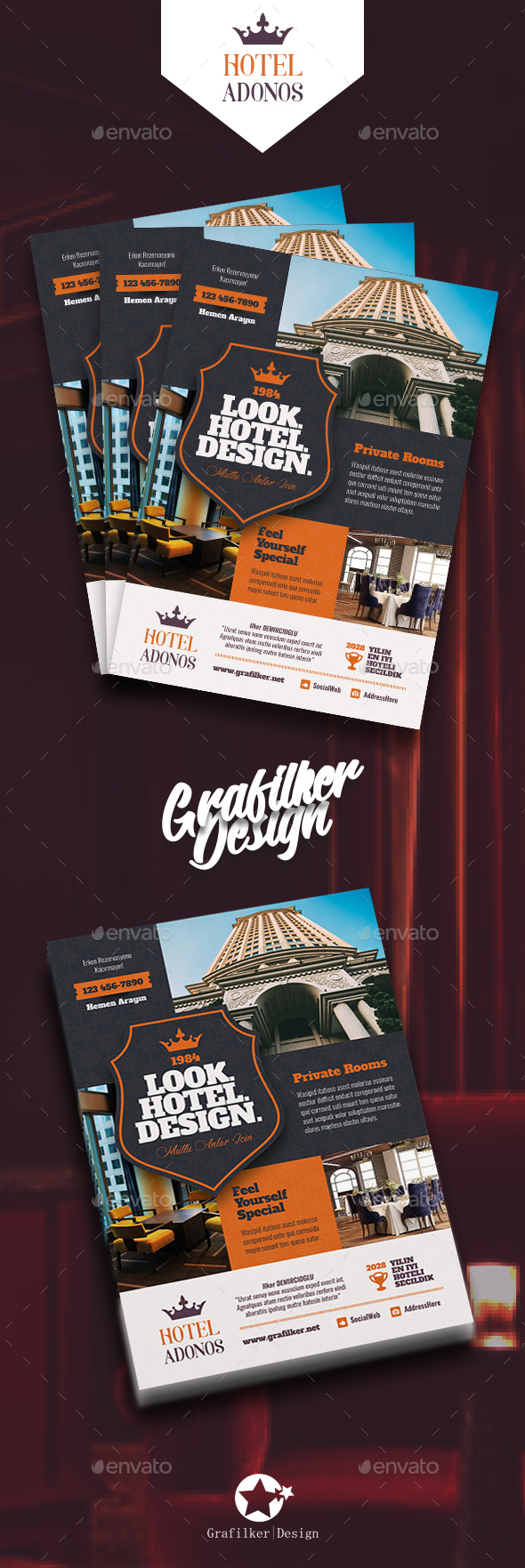 GraphicRiver Hotel Flyer Templates 20903958