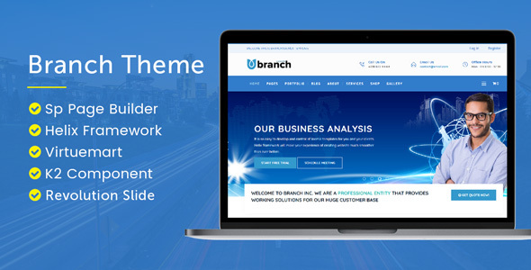 Branch Multi-Purpose Joomla! Template - Business Corporate
