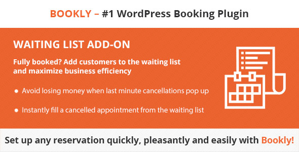 Bookly Waiting List (Add-on) - CodeCanyon Item for Sale