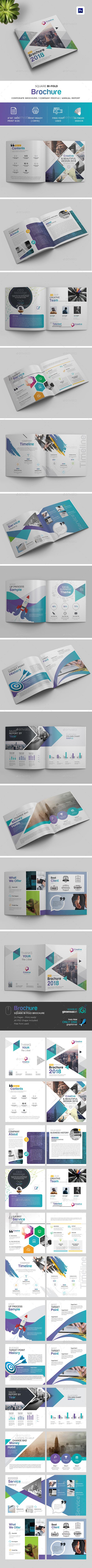 GraphicRiver Square Bi-Fold Brochure 20917452