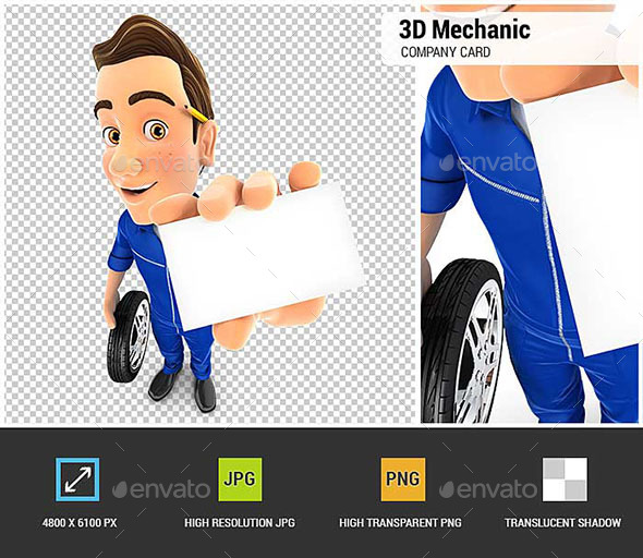 GraphicRiver 3D Mechanic Holding Company Card 20917486