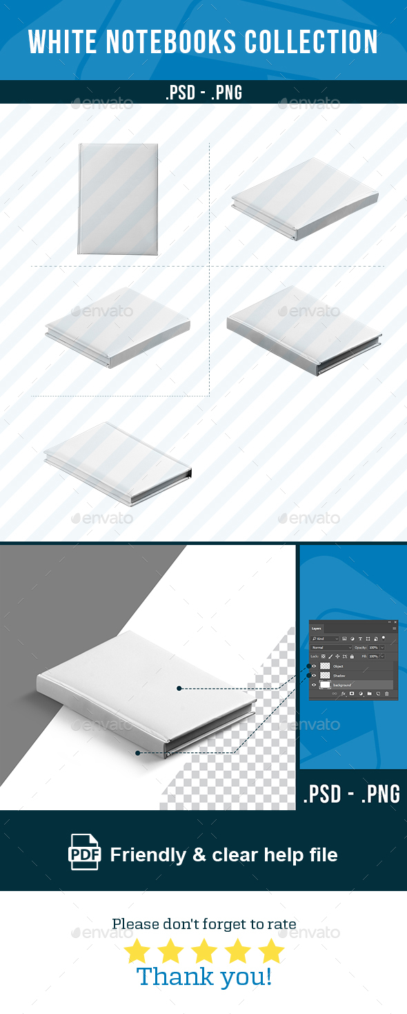 GraphicRiver White Notebook Collection 20800338