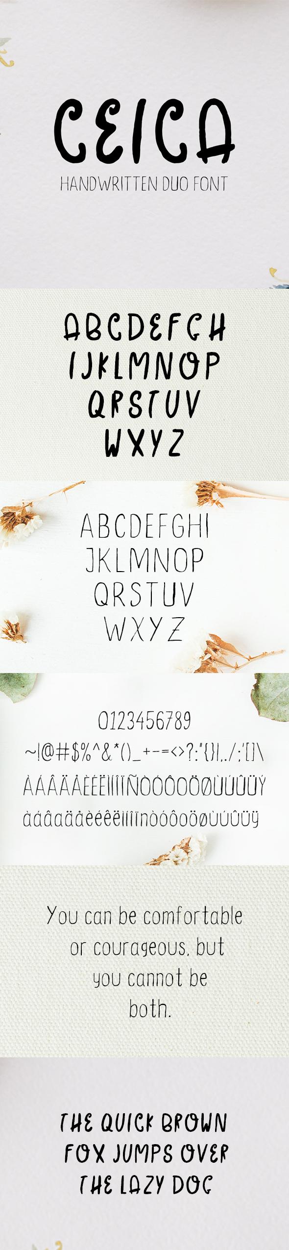 GraphicRiver Ceica Handwritten Duo Font 20917614