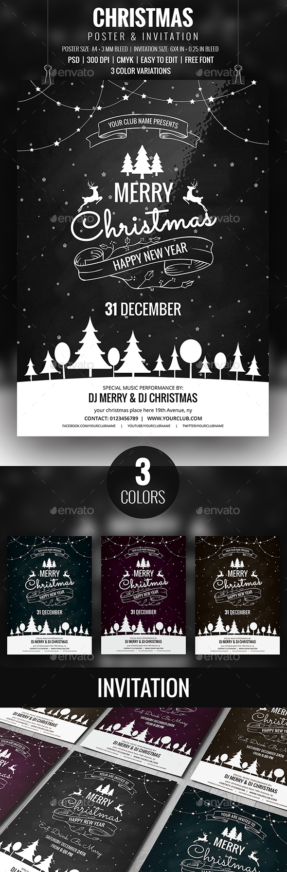 GraphicRiver Christmas Flyer 20917623