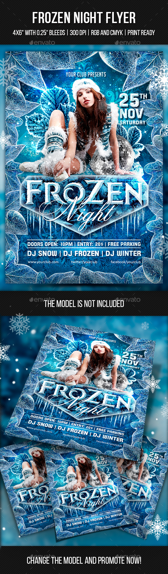 Frozen Night Flyer - Clubs & Parties Events