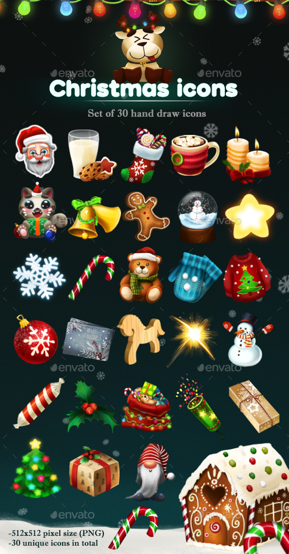 GraphicRiver Christmas Icons 20917698