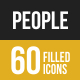 People Filled low Poly B/G Icons