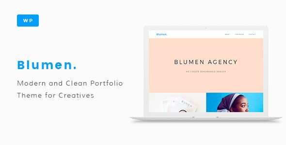 Blumen Portfolio WordPress Theme by Octrace [20651076]