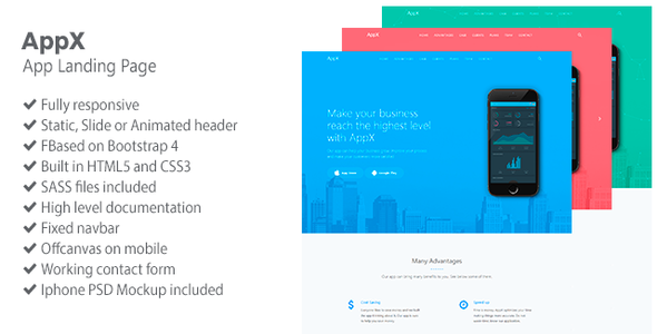 Image of AppX - App Landing Page