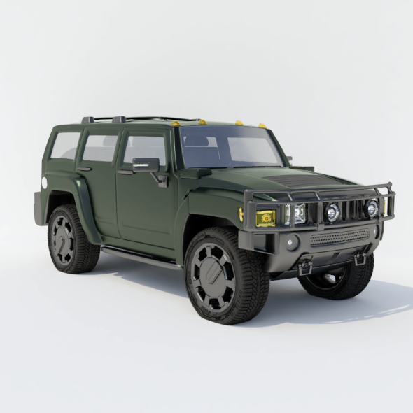 Hummer H2 - 3DOcean Item for Sale