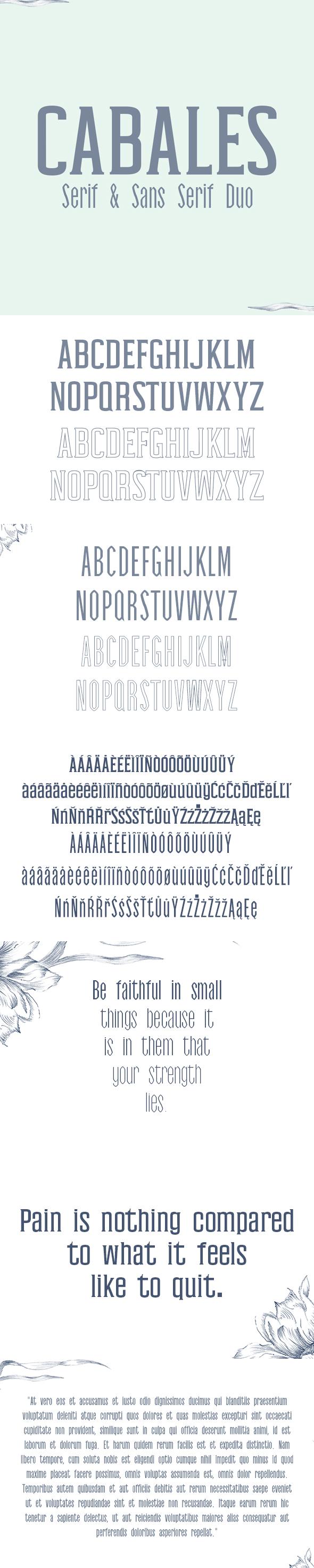 Cabales Duo Font - Sans-Serif Fonts