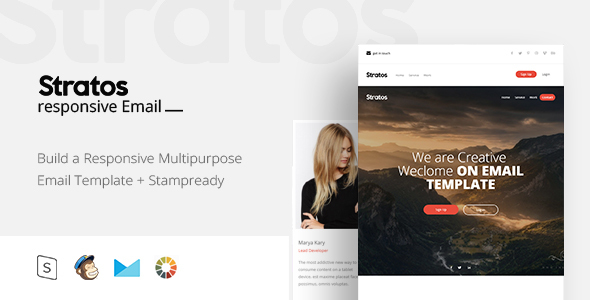 ThemeForest Straros Responsive Email & StampReady Builder 20917920