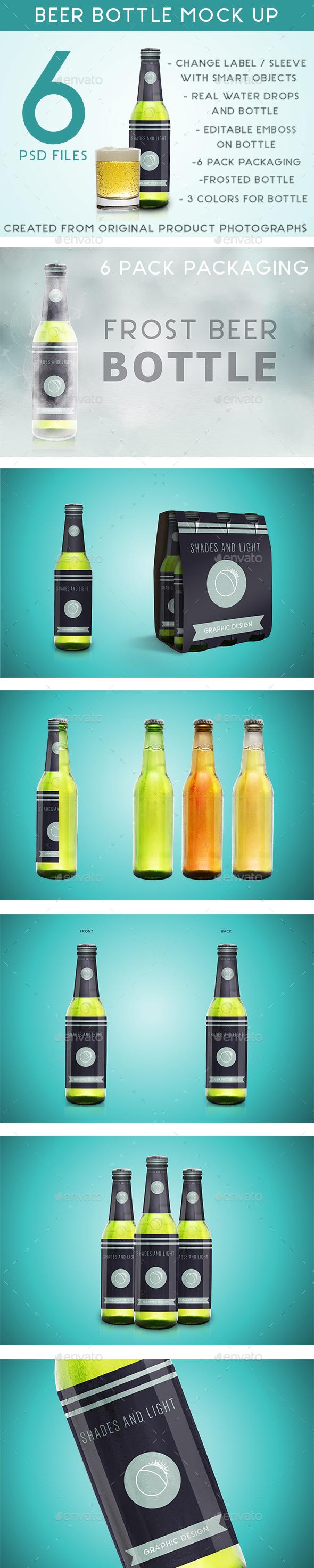 GraphicRiver Beer Bottle Mock up 20917930