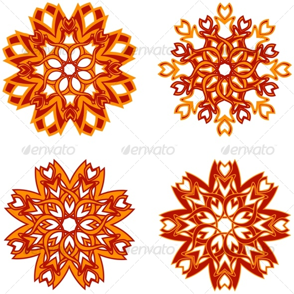 abstract flowers - Decorative Vectors