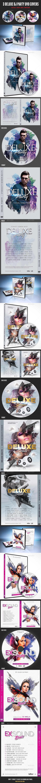 Deluxe Dj Party DVD Covers Bundle - CD & DVD Artwork Print Templates