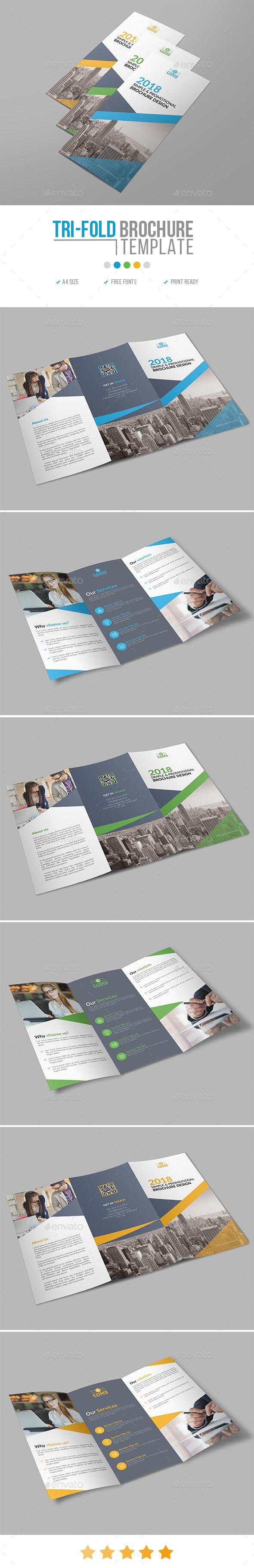 Corporate Trifold Brochure Template 20 - Corporate Brochures