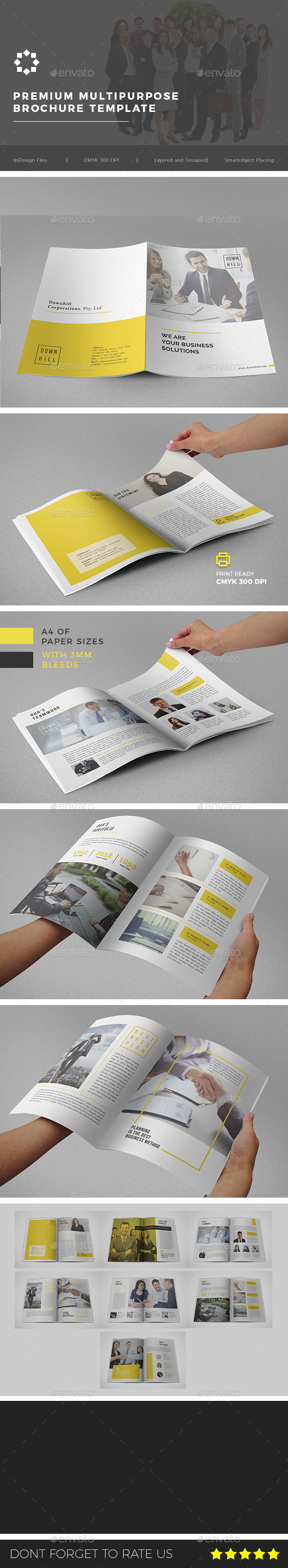 Multipurpose Corporate Brochure Template Vol. 02 - Brochures Print Templates