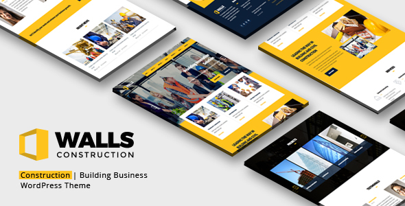 Walls WP - Construction WordPress Theme - Business Corporate