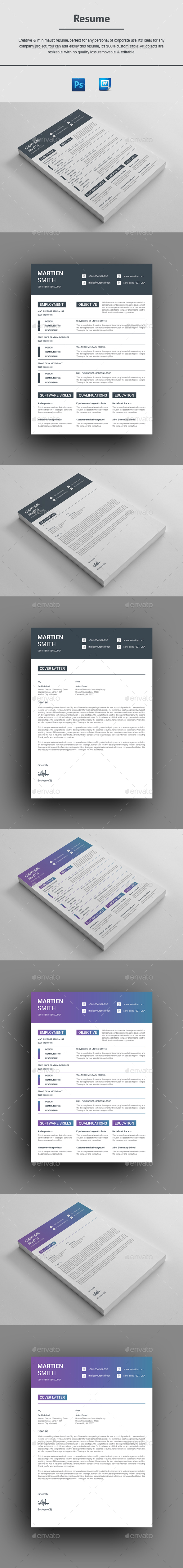 GraphicRiver Resume 20918307