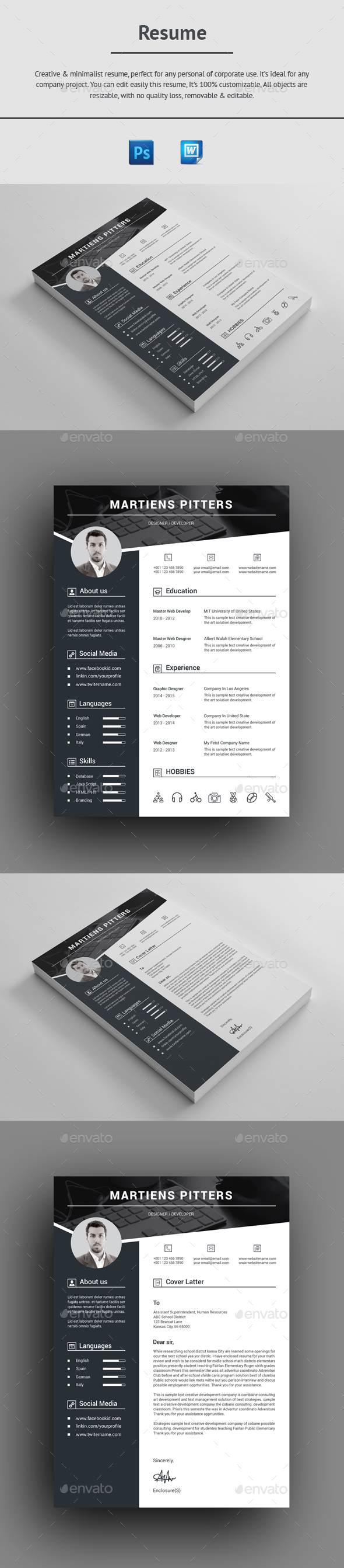 GraphicRiver Resume 20918340