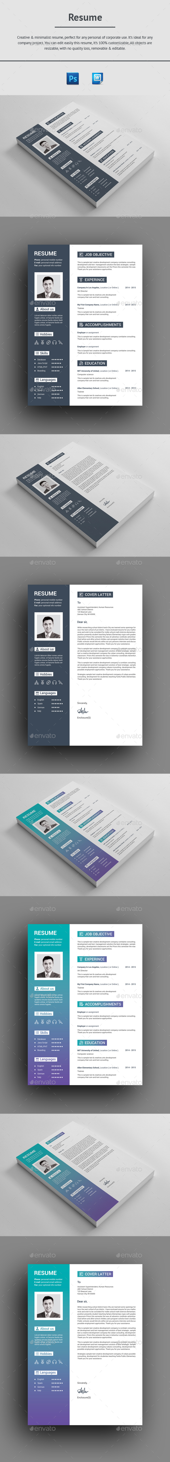 GraphicRiver Resume 20918350