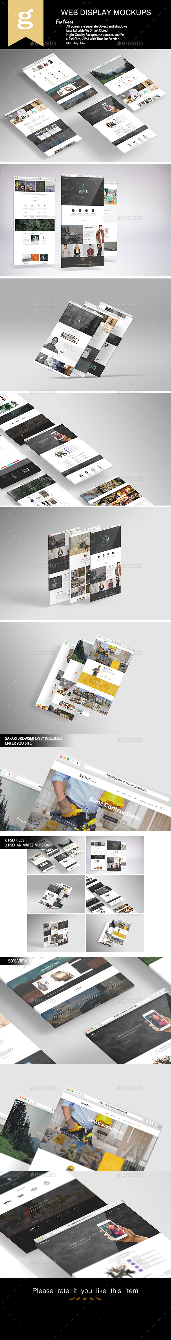 3D Web Display Mock-Up - Displays Product Mock-Ups