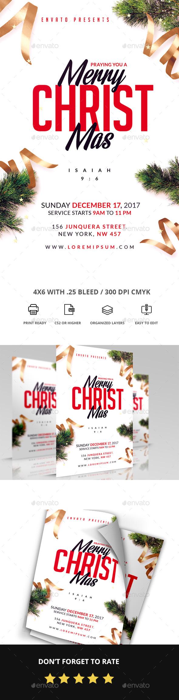 Merry Christmas - Church Flyers