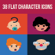 38 Flat Character Icons