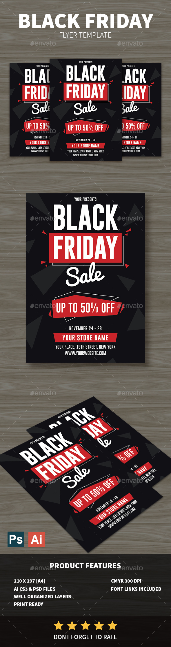 GraphicRiver Black Friday Flyer 20918427
