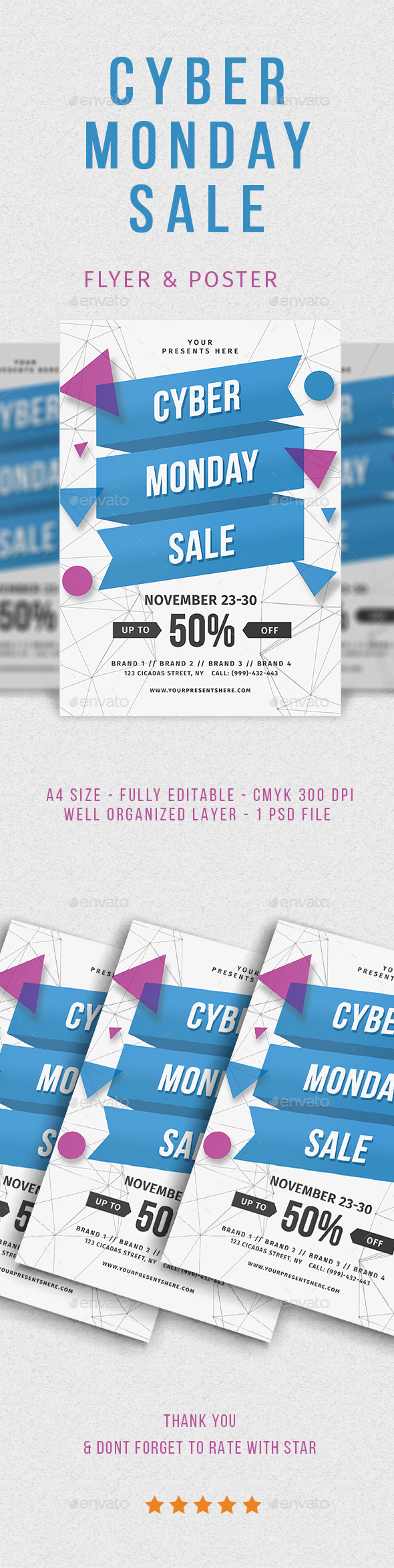 GraphicRiver Cyber Monday Flyer 20918463