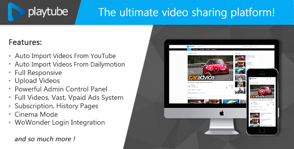 PlayTube - The Ultimate PHP Video CMS & Video Sharing Platform - CodeCanyon Item for Sale