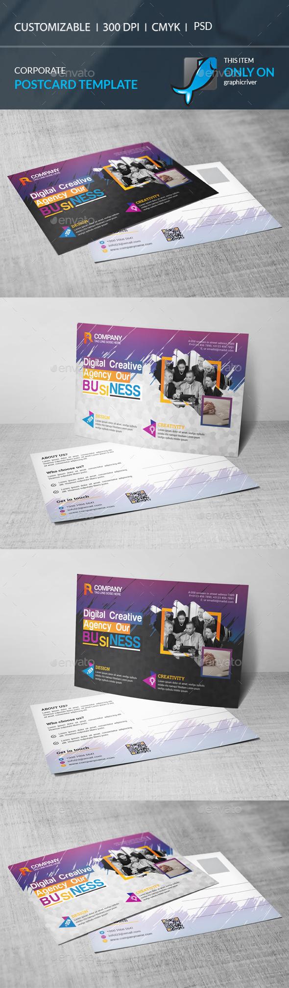 GraphicRiver Postcard Template 20918579