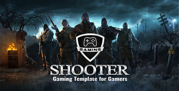 ThemeForest Gaming Shooter War Game Template 20845376
