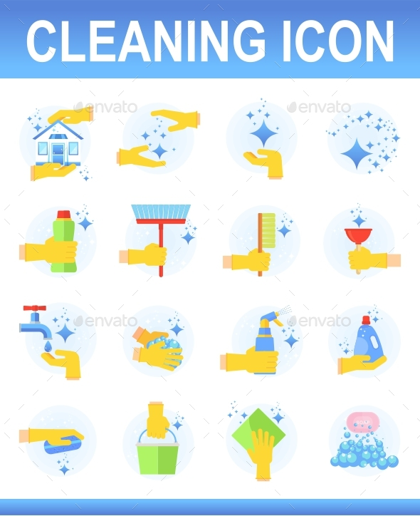 Cleaning Icons Set - Icons