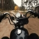 Biker Rides His Bike To Forest Park - VideoHive Item for Sale