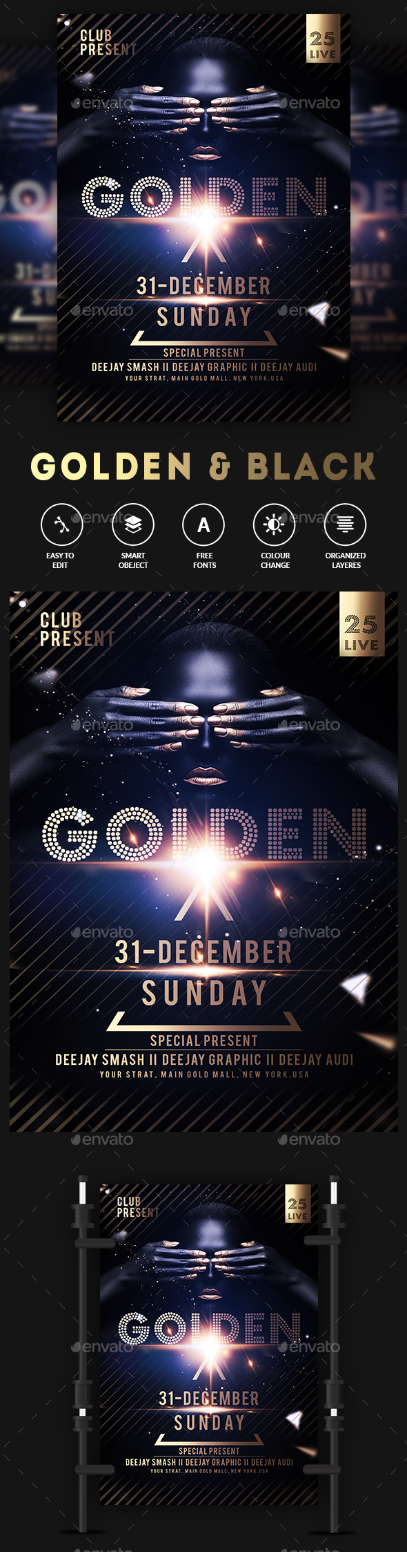 GraphicRiver Gold Club Party Poster Flyer 20918791